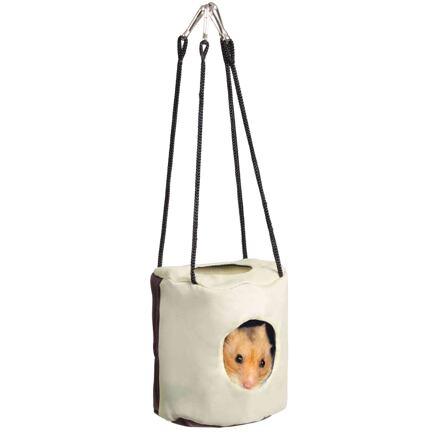 Trixie Šustící jeskyň pro křečka, nazavěšení do klece 10x9 cm