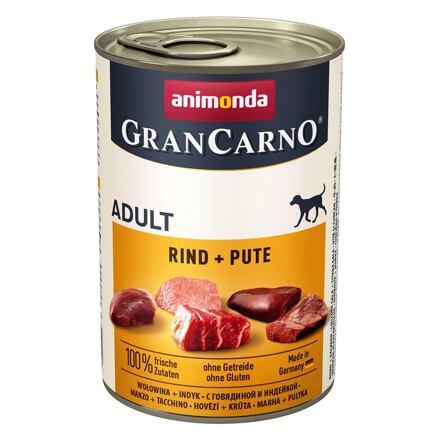 Animonda GRANCARNO Adult - hovězí,  krůta 400g
