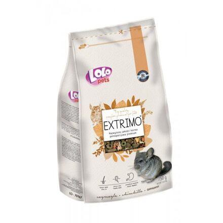 LOLO EXTRIMO kompletní krmivo pro činčily v sáčku se zipem 750 g