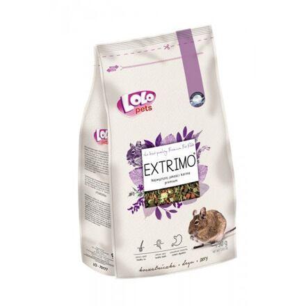 LOLO EXTRIMO kompletní krmivo pro osmáky v sáčku se zipem 750 g