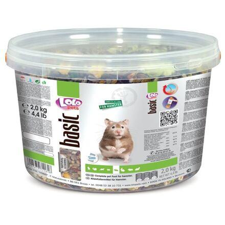 LOLO BASIC kompletní krmivo pro křečky 3 L, 2 kg kyblík