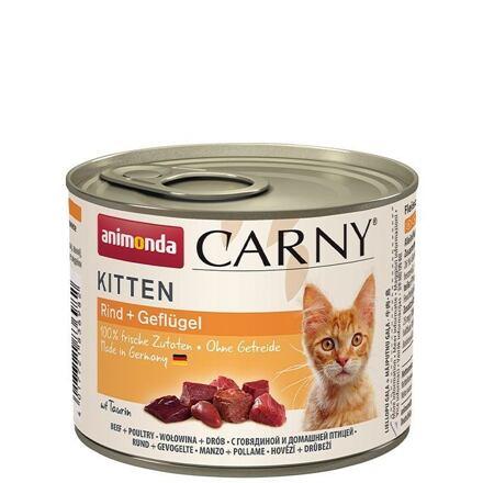 ANIMONDA konzerva CARNY Kitten - hovězí, telecí+ kuřecí 200g