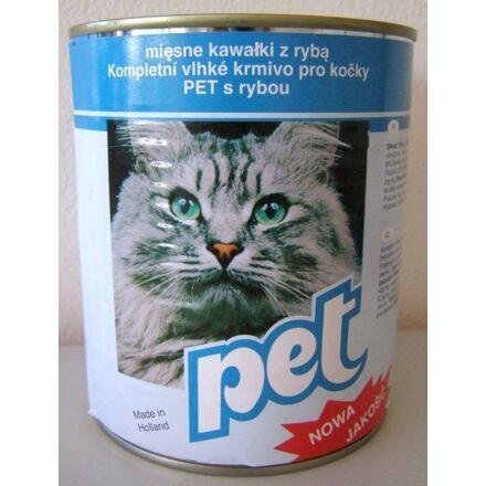 PET KATZE masové kostky s rybou pro kočky 855 g